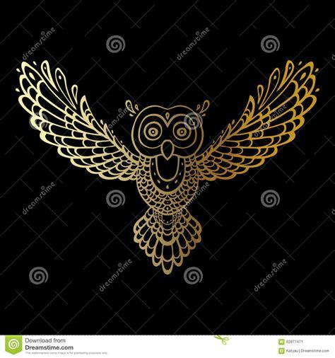 tribal pattern owl owl tribal pattern stock vector image 62877471