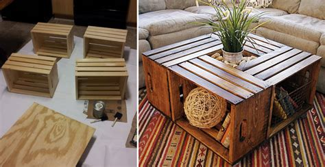 wine crate coffee table diy ideas how to make wine crate coffee table diy crafts