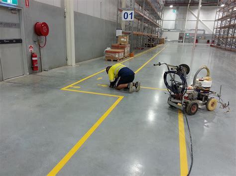 warehouse layout safety factory warehouse safety line marking