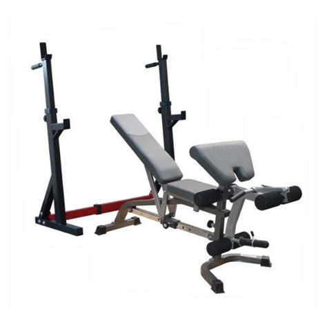 bench in squat rack bodymax cf335 deluxe bench and squat rack