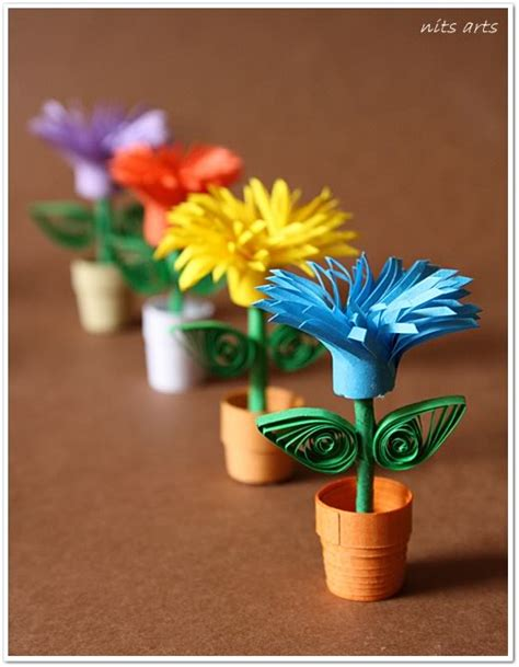 Paper Craft Flower Pot - paper craft ideas hi all its pretty since i