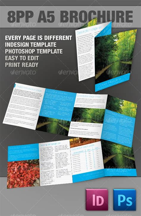 17 Best Images About Indesign On Pinterest Newsletter Templates Adobe And Short Cuts A5 Brochure Template Indesign