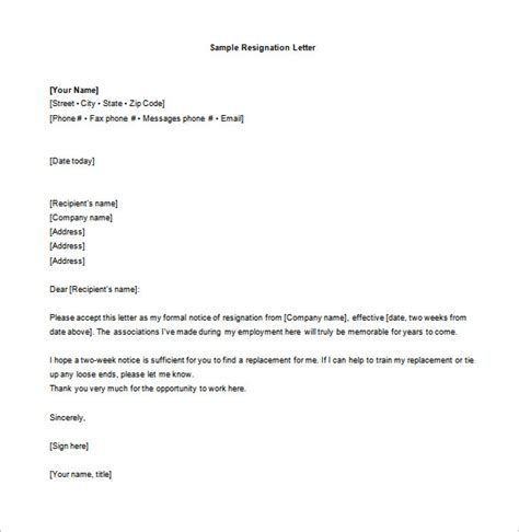 how to write a resignation letter 2 weeks notice cover