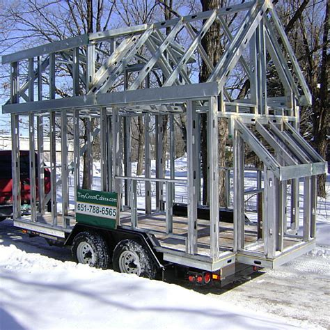 Tiny House Frame by Steel Vs Wood Construction Costs Tiny Green Cabins