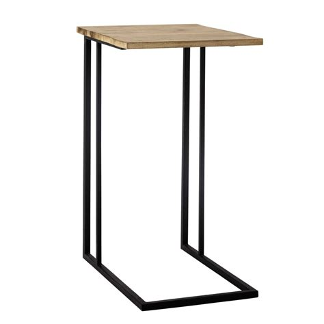 Metal Side Table by Andrew Metal Side Table In Black W 40cm Maisons Du Monde