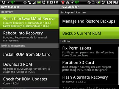 cwm rom manager apk rom manager premium က အသ ပ ၿပ မ မ ဖ န အတ က လ အပ တ cwm recovery တင မယ လက ရ rom က