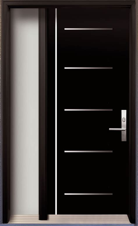 modern contemporary door modern wood door  stainless