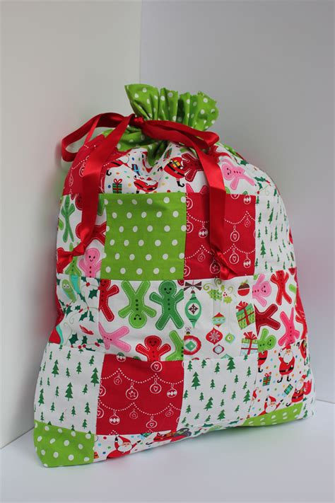 Patchwork Items - santa sack bag or lined with a