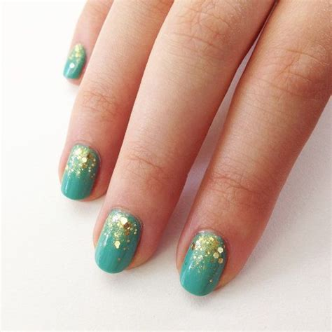 mint and gold gradient glitter nail art tutorial makeup 110 best passport to glam images on pinterest