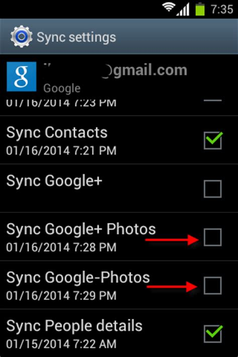android sync settings disable and delete photos from gallery app on android techtrickz