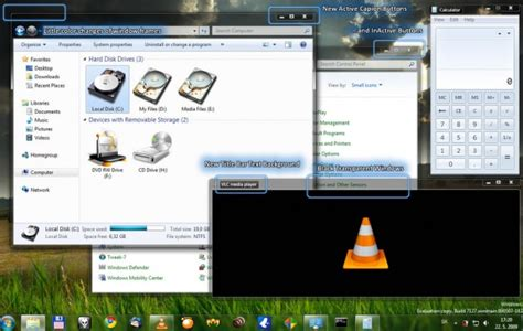 free download themes for windows 7 with taskbar windows vista transparent theme free download programs