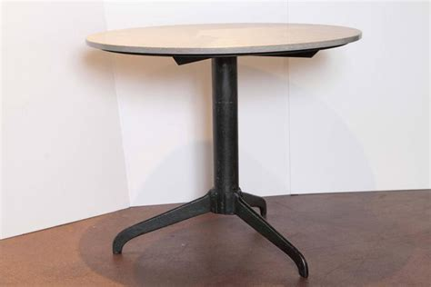 Modern Bistro Table by Modern Bistro Table With Jura Grey Limestone Top At 1stdibs