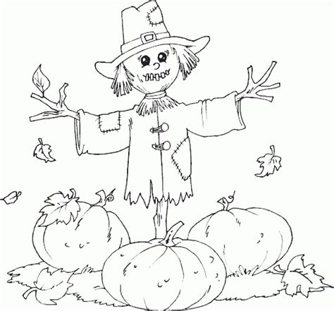 Scarecrow Pumpkin Patch Coloring Page Coloring Com Pumpkin Patch Coloring Page