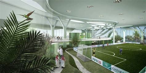 Home Design Blogs Nyc tree inspired indoor soccer complex provides luminous