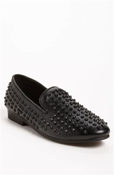 studded loafers steve madden steve madden jagggrr studded loafer in black for