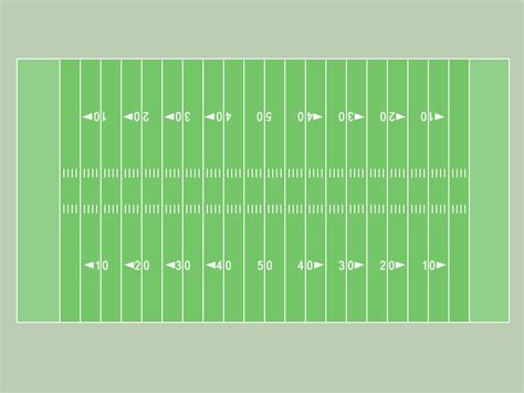 football board template football field