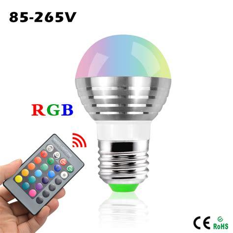 Rgb Led Light Bulb Mini Rgb Led Spotlight Bulb 5w Ac 110v 220v 16 Colorful Changeable Decor Light L Ir Remote