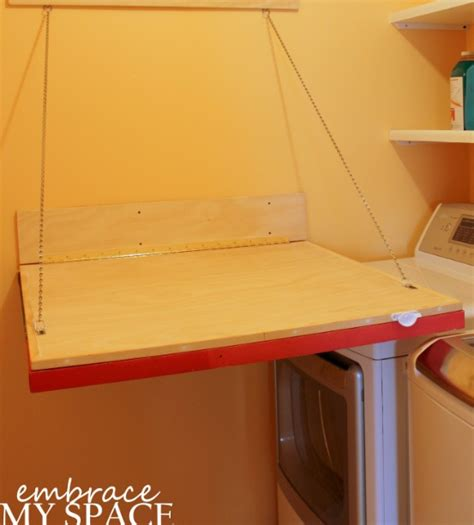 diy wall mounted folding table wall mounted folding table for laundry room design