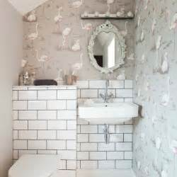 Small Bathroom Wallpaper Ideas Quirky Cloakroom With Signature Wallpaper Small Bathroom