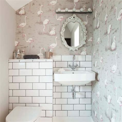 bathroom wallpapers 10 of the best quirky cloakroom with signature wallpaper small bathroom