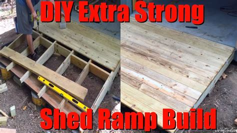 Building A R For A Shed by Easy Diy Strong Heavy Duty Shed R Build Low Cost 8 Shack R On A Hill Slope