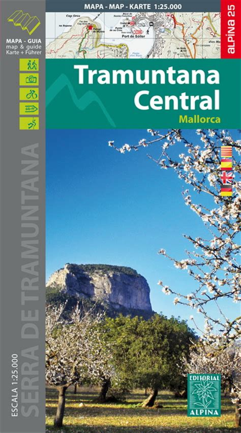 mallorca balearics spain 1 75 000 hiking map gps precise kompass books tramuntana maps