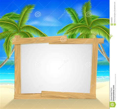 beach holiday palm tree sign stock vector image