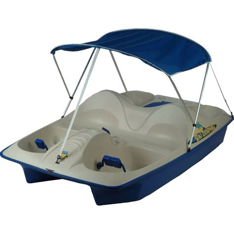 sun dolphin 5 seat pedal boat blue with canopy fitness
