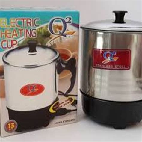 Teko Listrik Q2 jual electric heating cup 13 cm q2 mug elektrik teko
