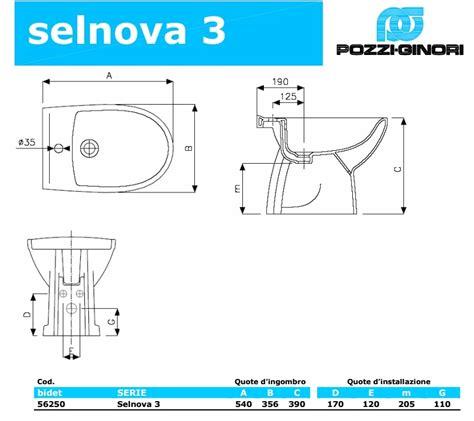 Bidet Selnova 3 Scheda Tecnica by Wc E Bidet A Terra Pozzi Ginori Selnova 3 56331111