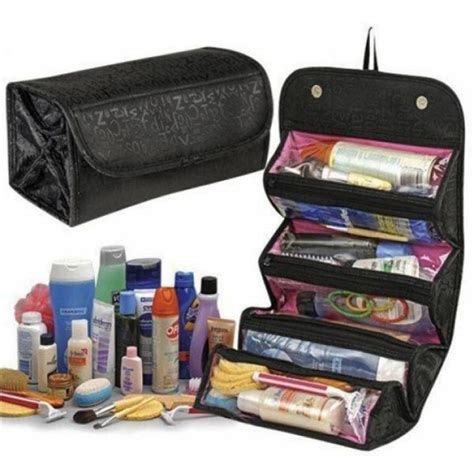 Travel Mate Organizer Toilet Bag Roll Go Traveling deal travel buddy 4 in 1 roll n go cosmetic bag toiletry organizer from category home storage