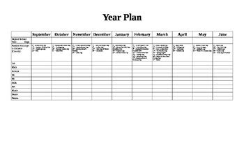 yearly plan template for teachers gallery templates
