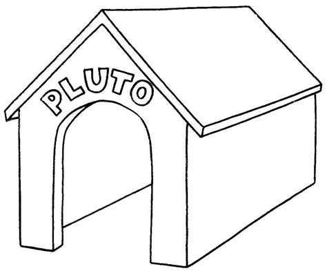 pluto dog house coloring page jpg disney coloring page 018