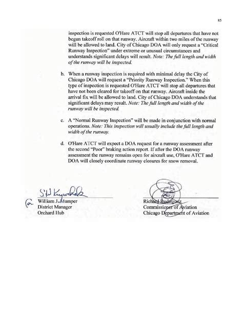 Letter Of Agreement Definition Aviation Appendix H Sle Letter Of Agreement For Unplanned Runway Closures Current Airport