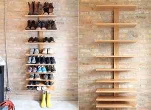 shoe shelving ideas practical cantilever shelf by seth ellsworth