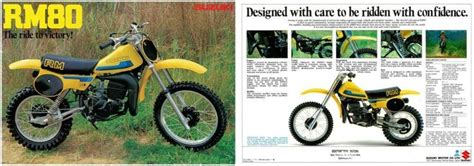1980 Suzuki Rm80 1980 Suzuki Rm80 Brochure Vintage Dirt