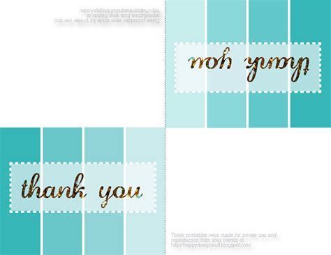 happy design stuff free printable friday thank you cards