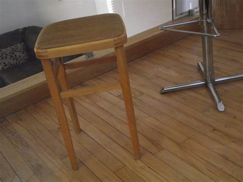 retro wooden stool retro wooden stool vinyl top tapeline ltd