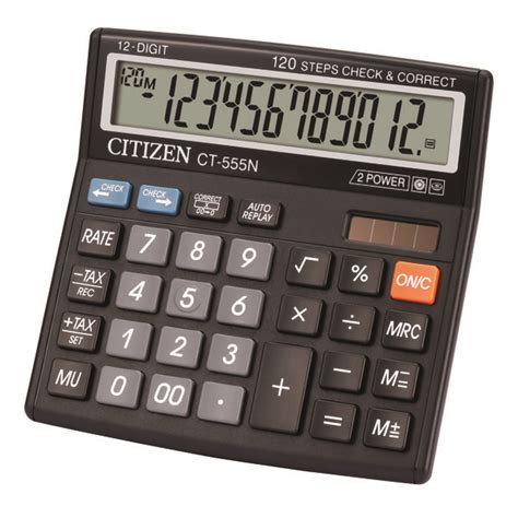 Citizen Calculator Ct 555 N Citizen Ct 555n Basic Calculator 12 Digit For Home