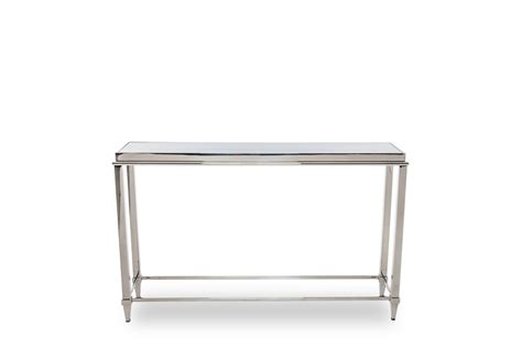 glass sofa table modern modrest agar modern glass stainless steel console table