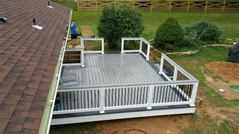 trex selects deck winchester grey double picture frame