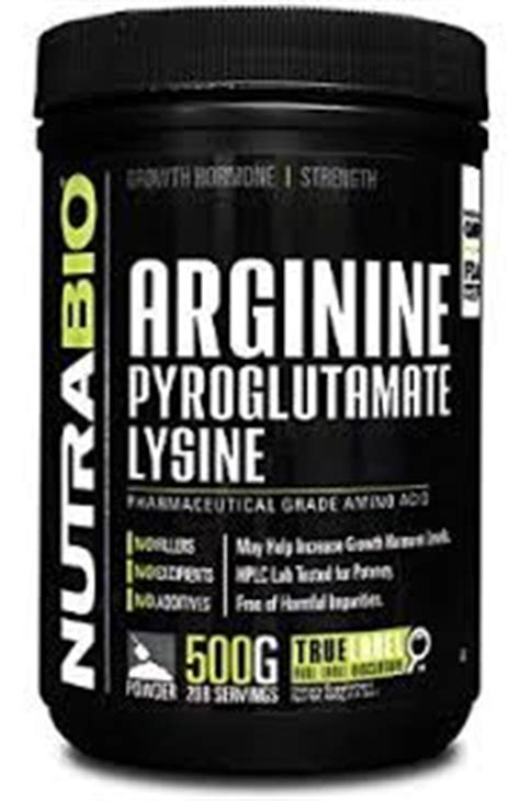 arginine before bed nutrabio arginine pyroglutamate lysine review does it work