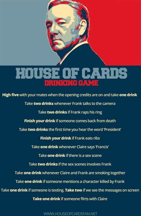 house of cards drinking game house of cards season 3 ultimate drinking game binge