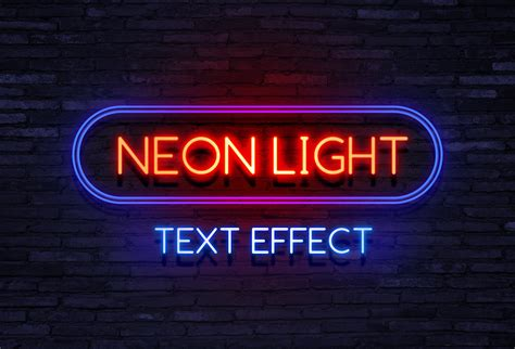 testo neon lights text effect archives graphicsfuel