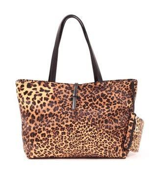 Peplum Blouse Leopard Dress Korea Wanita Motif Macan Hq 4649 tas wanita import leopard model terbaru jual murah