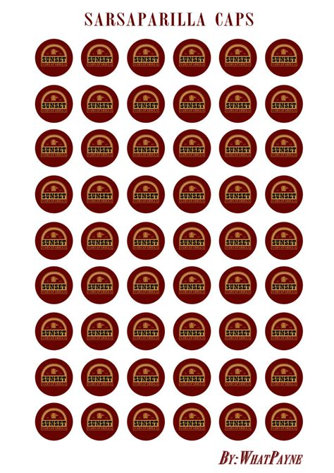 nuka cola bottle cap template sunset sarsaparilla caps by whatpayne on deviantart