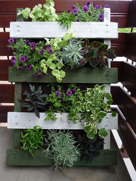 Vertical Garden Made Out Of Pallets Vertical Planter Made From Pallets Repurposed