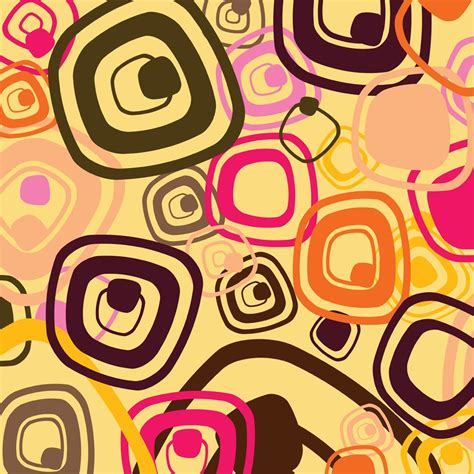 60s design sixties pattern vector