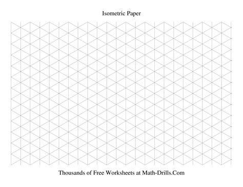 printable isometric graph paper isometric grid large landscape