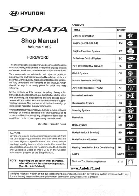 hayes auto repair manual 2005 hyundai sonata on board diagnostic system hyundai sonata nf 2005 repair manual order download
